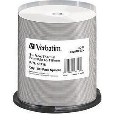 Verbatim CD-R No ID Brand 700MB 52x Spindle 100-Pack Thermal