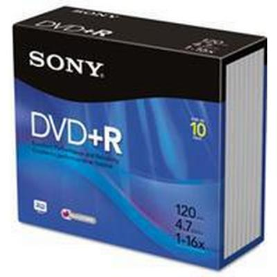 Sony DVD+R 4.7GB 16x Slimcase 10-Pack