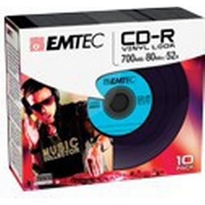 Emtec CD-R Vinyl 700MB 52x Slimcase 10-Pack