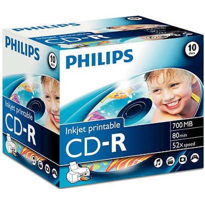 Philips CD-R 700MB 52x Jewelcase 10-Pack