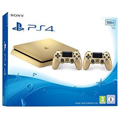 Sony Playstation 4 Slim 500GB - Gold - 2x DualShock 4 V2