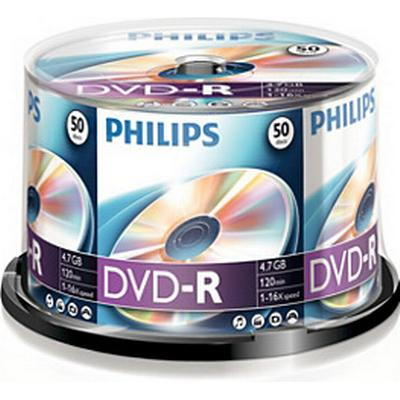 Philips DVD-R 4.7GB 16x Spindle 50-Pack
