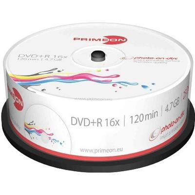Primeon DVD+R 4.7GB 16x Spindle 25-Pack Inkjet