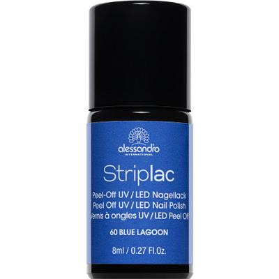 Alessandro Striplac Nail Polish Lagoon Enamel Blue 8ml
