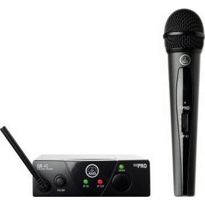 AKG WMS40 Mini Vocal Set Band-ISM2 Upptagningsförmåga Cardioid Tillbehör Adapter