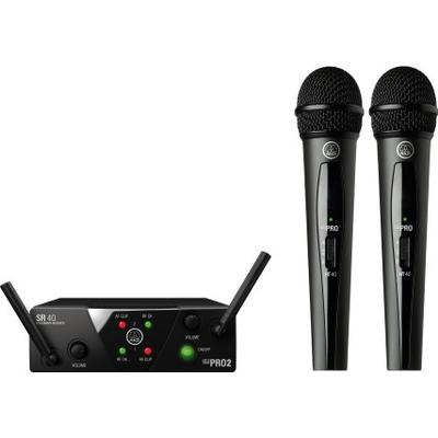 AKG WMS40 Mini Dual Vocal Set Upptagningsförmåga Cardioid