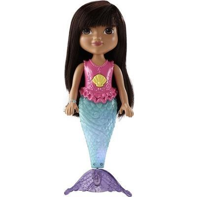 Fisher Price Nickelodeon Dora & Friends Sparkle & Swim Mermaid Dora
