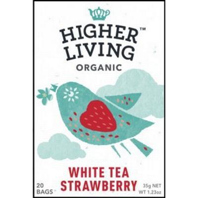 Higher Living White Tea Strawberry 20 Tepåsar