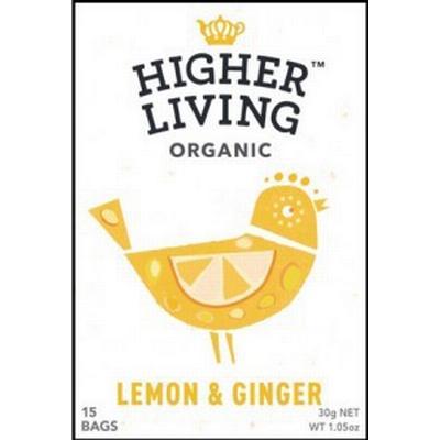 Higher Living Lemon & Ginger Tea 15 Tepåsar