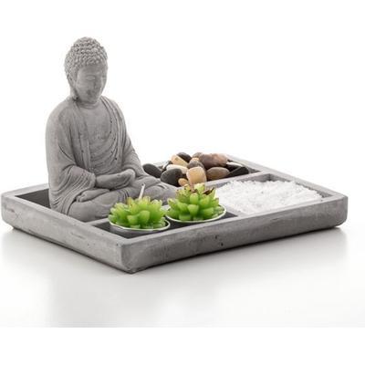 Homania Decorative Zen Garden with Buddha 19.5cm Prydnadsfigur