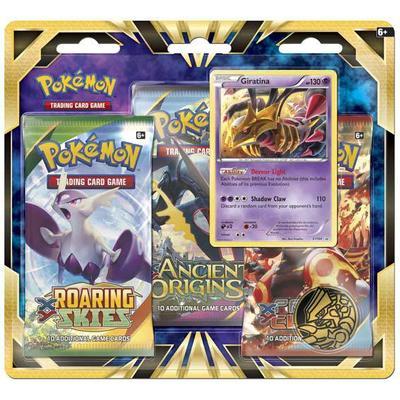 Pokémon 3 Booster Packs with Bonus Giratina Promo Card & Coin