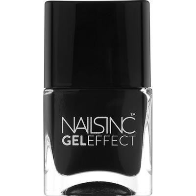 Nails Inc Gel Effect Nail Polish Black Taxi 14ml