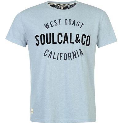 SoulCal Logo T-shirt Sky Marl (59947818)