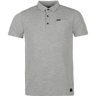 Firetrap Blackseal Herringbone Polo Shirt Grey Marl (54823625)