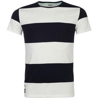 SoulCal Block Yarn Dye T-shirt Navy/White (59962822)