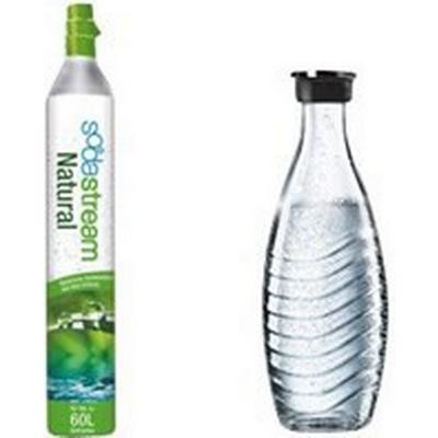 SodaStream Gas Cartridge 60L + Glass Bottle 1L