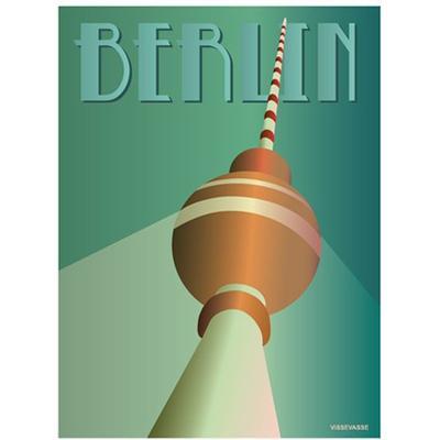 Vissevasse Berlin TV Tower 30x40cm Affisch