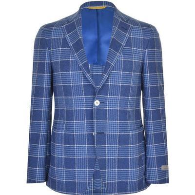 Canali Boucle Prince of Wales Check Kei Blazer Blue (23273-CF01091-301)