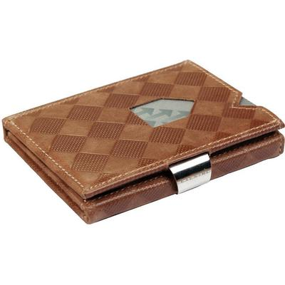 Exentri Leather Wallet - Sand Chess (EX 027)