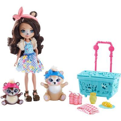 Mattel Enchantimals Paws for a Picnic Doll Set