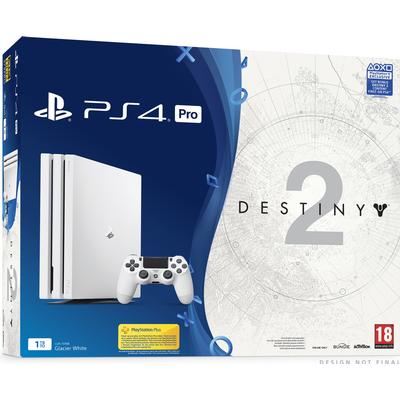 Sony Playstation 4 Pro 1TB - White Edition - Destiny 2 Deluxe Edition