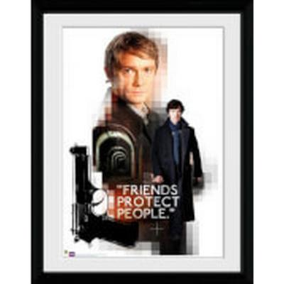 GB Eye Sherlock Friends Protect 30x40cm Affisch