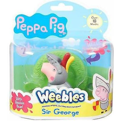Character Peppa Pig Weebles Wobbily Figure & Base Sir George
