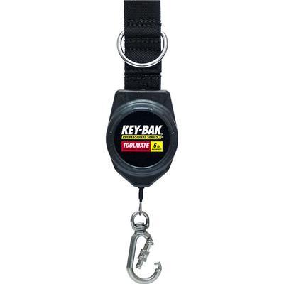 Key-Bak Retractor Toolmate - 60 tum Svart