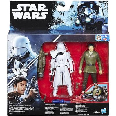 Hasbro Star Wars the Force Awakens Poe Dameron & First Order Snowtrooper Deluxe Pack B8612
