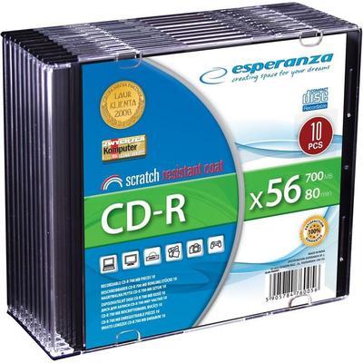 Esperanza CD-R Silver 700MB 56x Slimcase 10-Pack