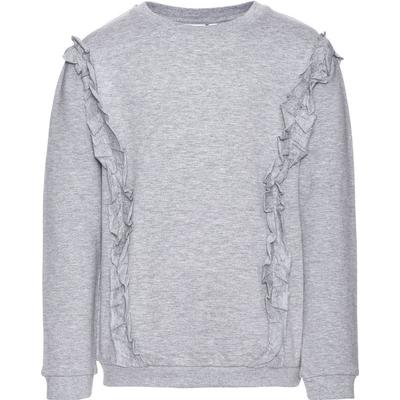 Name It Kids Nitines Flounces Sweatshirt - Grey/Grey Melange (13142440)