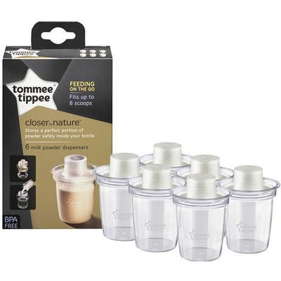 Tommee Tippee Closer to Nature Milk Powder Dispensers 6-pack
