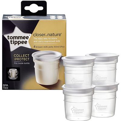 Tommee Tippee Closer to Nature Milk Storage Pots 4pcs