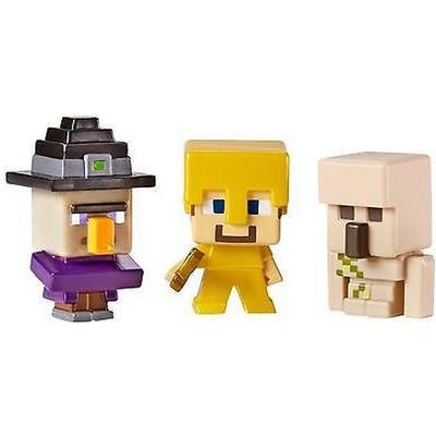 Mattel Minecraft Mini Figures Witch Steve and Iron Golem 3-pack