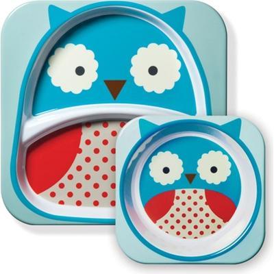 Skip Hop Zoo Melamine Plate & Bowl Set Otis Owl