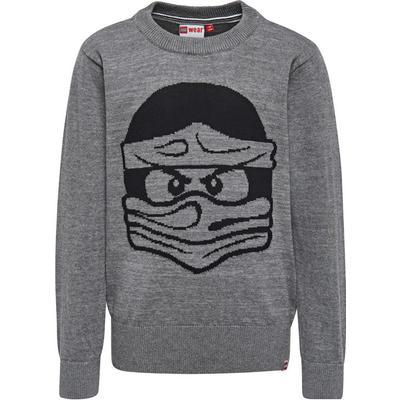 Lego Wear Kyle 701 Ninjago Knit Sweater - Gray Melange