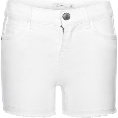 Name It Nittorina Slim Denim Shorts - White/White (13140520)