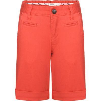 Name It Nitallan Regular Long Chino Shorts - Red/Aurora Red (13138482)