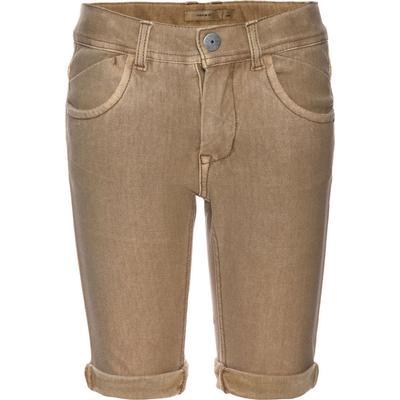 Name It Nitjon Slim Twill Long Shorts - Yellow/Starfish (13139600)