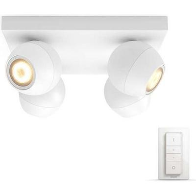 Philips Hue White Ambiance Buckram 4-spot Spotlight