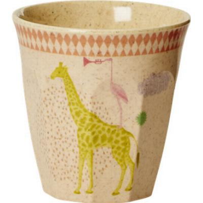 Rice Kids Bamboo Small Melamine Cup with Animal Print