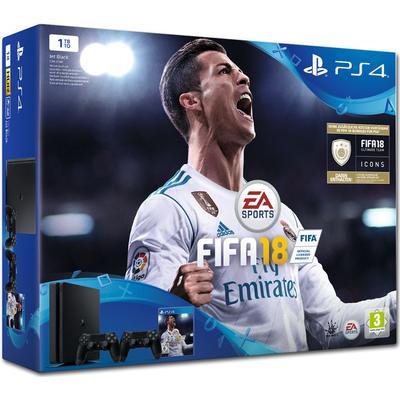 Sony PlayStation 4 Slim 1TB - FIFA 18 - 2x DualShock 4 V2