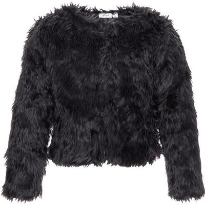 Name It Nitwedina Faux Fur Jacket - Grey/Asphalt (13134322)