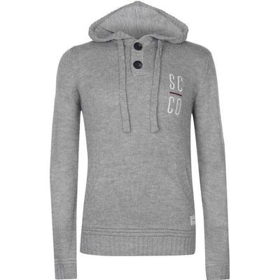 SoulCal Knitted Hoodie Grey Marl (55213925)