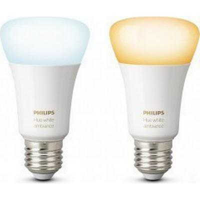 Philips Hue White Ambiance LED Lamp 9.5W E27 2 Pack