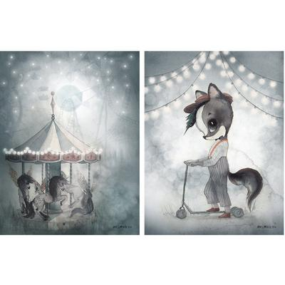 Mrs Mighetto Mr William & Night Carousel Posters 2-pack