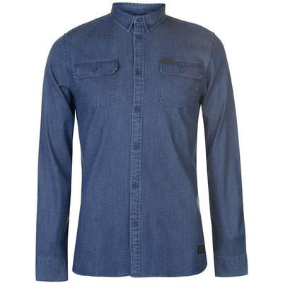 Firetrap Blackseal Denim Shirt Navy (55011622)