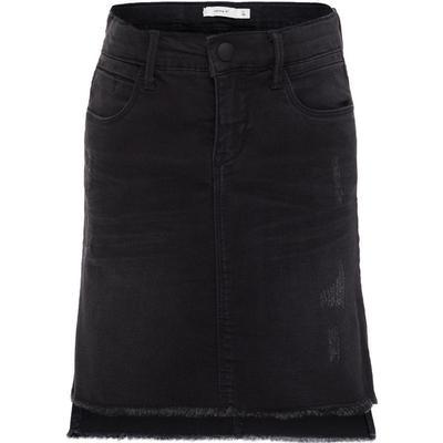 Name It Frayed Hem Denim Skirt - Black/Black (13144094)