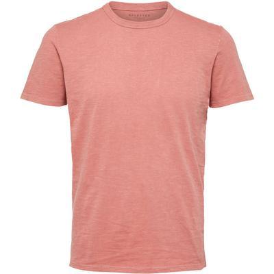 Selected O-Neck T-shirt Pink/Dusty Cedar (16056949)