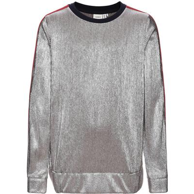 Name It Metallic Long Sleeved Top - Grey/Silver (13144722)